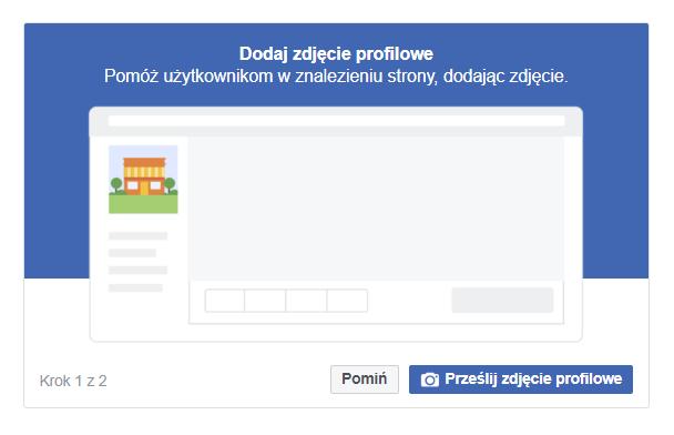 dodawanie zdjęcia profilowego do fanpejdża na Facebooku
